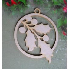 Holly pendant - 0132 Cardboard