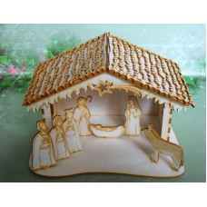 Christmas crib - 0907 Cardboard