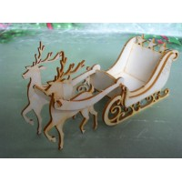 Team of reindeers large - 0908D Cardboard