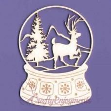 Snow globe with a reindeer - 0043 Cardboard