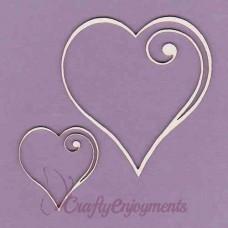 Heart frame set - 0287 Cardboard