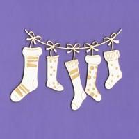 Santa Claus socks - 1301 Cardboard