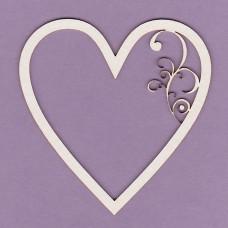 Heart frame - 0281 Cardboard